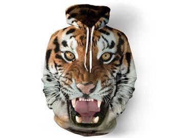 Tiger Hoodie, Tiger, Tiger Hoodies, Animal Prints, Animal Hoodie, Animal Hoodies, Tigers, Hoodie Tiger,Hoodie,3d Hoodie,3d Hoodies Style 8