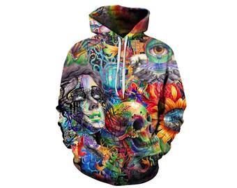 Skull Hoodie, Skull, Skull Hoodies, Skull Prints, Scalp Hoodie, Gothic, Skeleton, Skulls, Scalp, Hoodie, 3d Hoodie, 3d Hoodies - Style 8