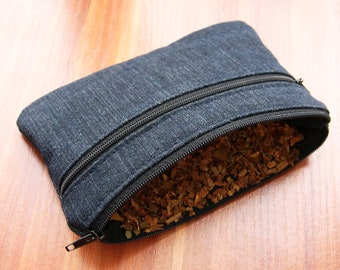Jeans tobacco pouch / tobacco and pipe pouch / tobacco bag / man pouch / gift for him