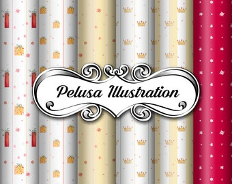 The Best Party Digital Paper Pack - Pelusa Illustration -