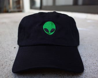 Alien Six Panel Unstructured Baseball Cap Dad Hat