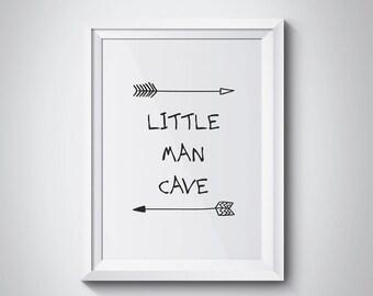 Nursery Printable, Little Man Cave, Kids Room Decor, Nursery Decor, Bear Quote, Woodland Nursery, Baby Shower Gift, Baby Boy, #HQNUR01