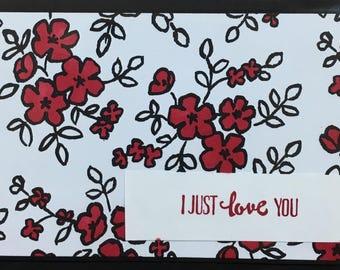 I just love you, Handmade card