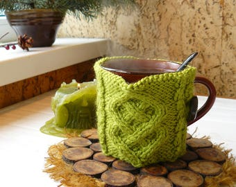 Mug cover_coffee sleeve_knit mug tea cozy_coffee cozy_crochet candle cozy_knit mug warmer_cup sleeve