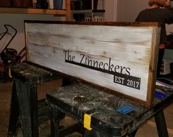 Barn Board Wall Sign
