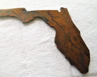Fractal Art, Wood Burning, Lichtenberg, State of Florida
