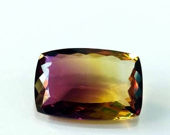 Loose Gemstones Ametrine Cushion Cut Stones 17x24x9