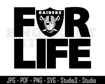 Raiders SVG, Raiders for Life, Raiders, Football - Cut Files - SVG, PNG, Studio, Studio3 - Silhoutte. Cricut and More - CS116