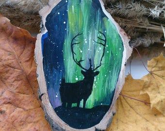 "Magnet ""Northern lights - Shadow of a deer"""