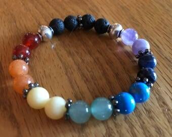 Chakra Essential Oil Diffuser Bracelet