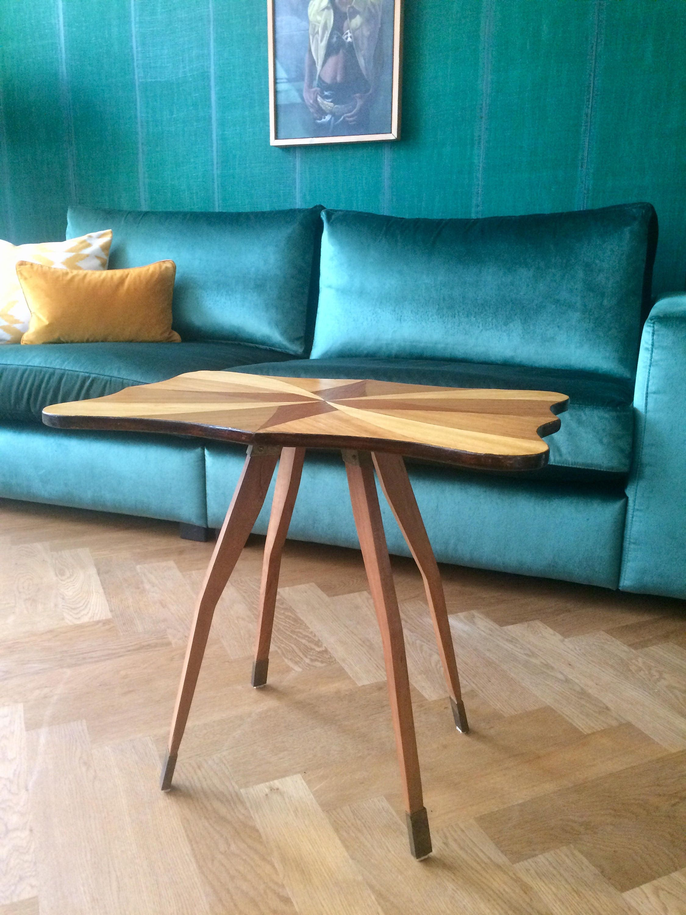 Italian table design 50 s style of ico parisi gio ponti paolo buffa