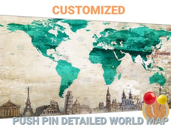 Shes going places world map aqua and gold world map turquoise world map canvas turquoise push pin world map turquoise world map canvas wall art turquoise gumiabroncs Images