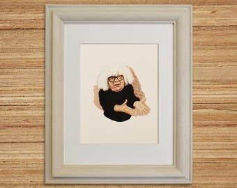 FRANK REYNOLDS, Danny Devito, Always Sunny, Celebrity Portrait, Tv Show Art, Ongo Gablogian, Giclee Print of Original Gouache Painting