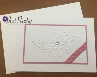 Embossed Floral Sugarplum Card