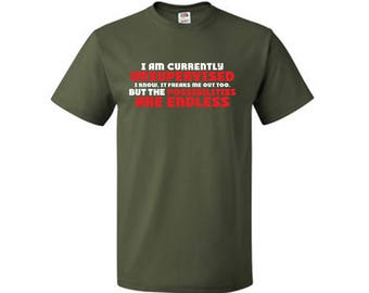 I Am Currently Unsupervised Adult Humor Novelty Graphic Sarcasm Funny T-Shirt