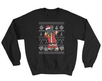 Funny Dabbing Dachshund Ugly Christmas Sweater Cute Dog Gift
