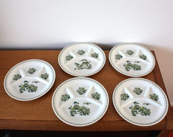 Figgjo Norway ' Market '-Turi Design-5 fondue signs + enamel board