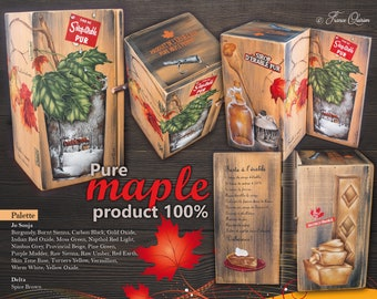 Pure maple product 100%-epattern