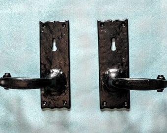 Gate Handles (Door handle, Door Knob, Gate, Iron, Black)