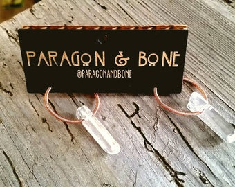 Quartz and Copper Wrapped Earrings
