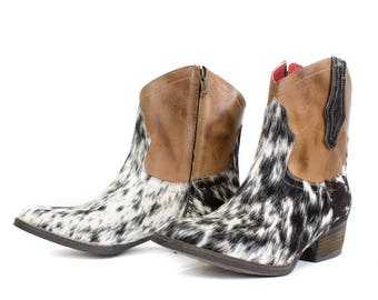 Handcrafted Womens Cow Hair Boots