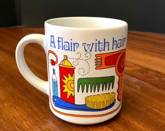 Vintage Hair Stylist Coffee Cup
