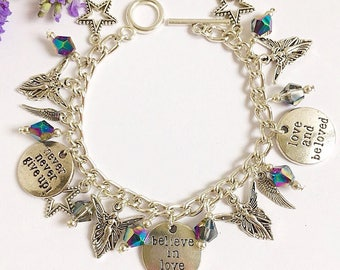 Angel Inspiration charm bracelet, guardian angel, spiritual