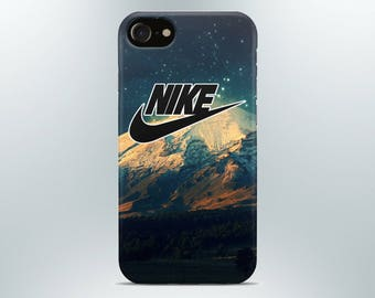 iPhone case Nike 7 8 X plus 6 6s 5 5s se Samsung galaxy case nike s8 s7 edge s6 s5 s4 note 4 phone case art collage mountains logo print