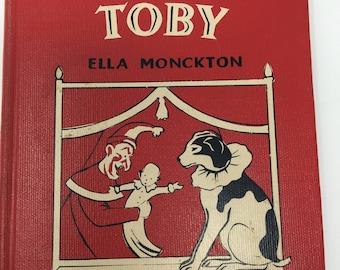 Dog Toby Antique Childrens  Book 1917 Monkeys