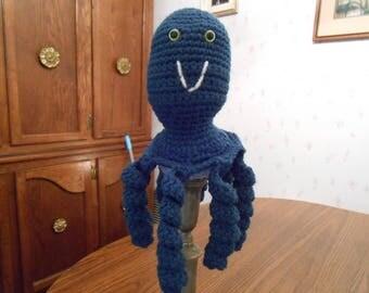 New HANDMADE Crocheted Navy Blue Octopus
