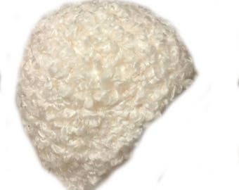 Fluffy Beige Winter Hat