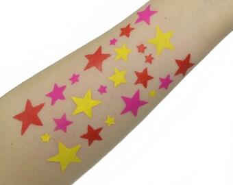 Multiple Stars Makeup Swatch Stencil