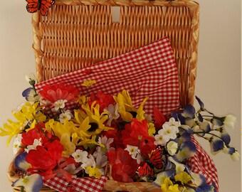 Picnic Basket Floral Centerpiece