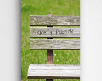 Personalized Park Bench Romance Canvas - Personalized Canvas - Valentine Canvas - Love Canvas -  Personalized Gifts - Romance Gifts -