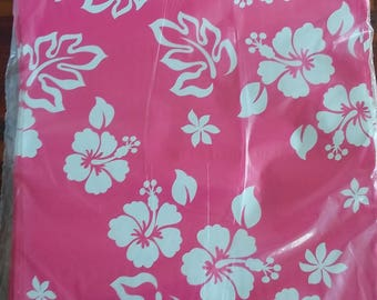 """10""""x 13"""" Designer Poly Mailers, Pink mailers, Aloha Mailers, Flat Shipping, Hibiscus Flower Mailing Bags, USPS, fashion bags, professional"""