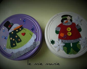 Decorated tin Boxes