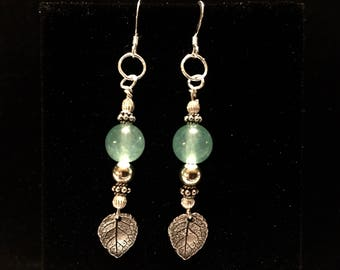 Sterling Green Aventurine earrings