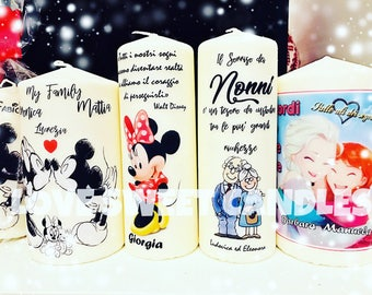 Personalized candles-Idea gift favor