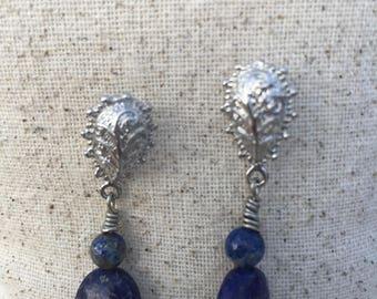 Lapiz Lazuli and Silver Earrings