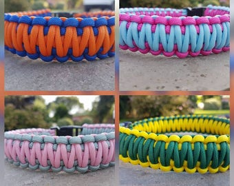 Paracord Dog Collar - Double Weave - Any Colour Combination!