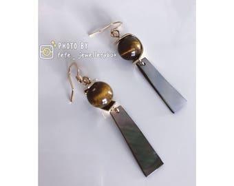 Natural Marble Drop Earrings