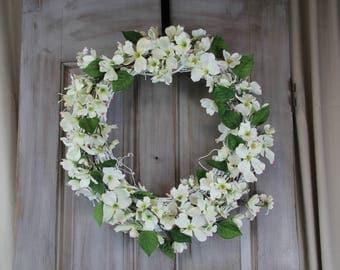 Grapevine Dogwood Wreath, Dogwood Wreath, Front Door Wreath, Easter Wreath, Spring Wreath