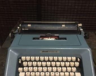 Blue Olivetti Studio46 Typewriter