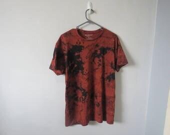 Black/Copper Bleach Dyed T-Shirt (Unisex)