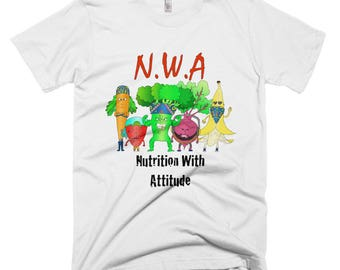 NWA: Nutrition With Attitude T-shirt / Vegan Shirt / Funny Shirt / Gym Clothing / Unisex