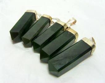 5 Piece Nephrite Jade Necklace , Nephrite Pendants , Nephrite Jewellry Size 30*5mm