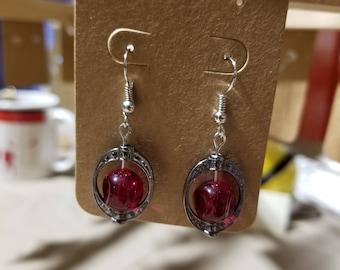 Sphere Earrings with Stargate-like Border