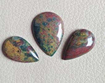 Bloodstone Hand Polish 60 Carat Gemstone, Wholesale Gemstone Cabochon, Beautiful Natural Bloodstone Gemstone, Gems Jewelry Supplies Stone.
