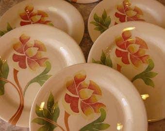 Service plates faience