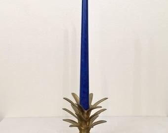 Brass Pineapple Top Candlestick Holder